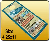 Wholesale 4.25x11 Door Hangers printing services