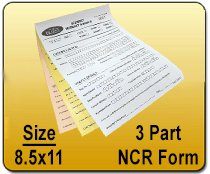 Wholesale 3 Part NCR 8.5x11 Form Printing services