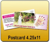 Wholesale 4.25x11 Postcards Printing
