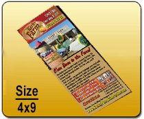 Wholesale 4x9 Rackcards Printing Services