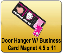 Door Hanger w/Business Card Magnet 4.5 x 11 - YARD SIGNS & Magnetic Cards | Cheapest EDDM Printing