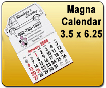 Magna Calendar 3.5 x 6.25 - YARD SIGNS & Magnetic Cards | Cheapest EDDM Printing
