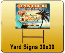 Yard Signs 30x30 - YARD SIGNS & Magnetic Cards | Cheapest EDDM Printing