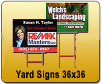 Yard Signs 36x36 - YARD SIGNS & Magnetic Cards | Cheapest EDDM Printing